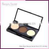 3 color Eye Brow Palette Professional Make up Eyebrow kit