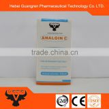 High quality Metamizole sodium / Analgin+Vitamin C injection with gmp certificate factory