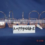 Cuprous small wire gift basket with handle