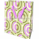 Fashion Copper Plate Paper Shopping Bags