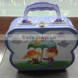 Metal Butterfly Shaped Tin Lunch Box, Kid's Lunch Box