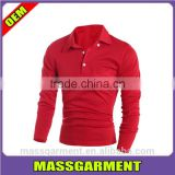 New style men comfort chest pocket solid color polo t shirt long sleeve sport polo t shirt