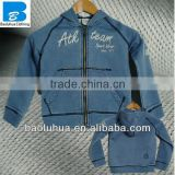 high quality wholesale boys light blue spring jeans hoody