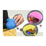 OEM M Blue / Yellow / Pink Silicone Coin Pouch / Purse / Bag / Wallet For Women
