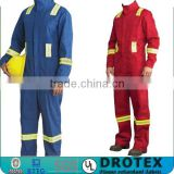 Fireman Suit Coveralls with Reflective Tape NFPA2112 FR Striped Coverall