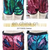 Hot Design Fashion Women Reversible Sequin Color Changing Shorts Dance Night Club Party Sexy Pants