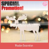 10pcs set Wooden Christmas Moose Christmas Ornament Wooden Shapes, Gift Tags, Craft Blanks