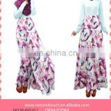New Design Muslim Abaya Plus Size Islamic Malaysia Busana Kaftan Malaysia Turkish Women Dress(Mu041412)