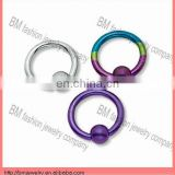 Titanium plated nickel free nose ring body piercing jewelry