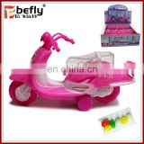 Wholesale Pink candy filled plastic pull back motorcycle toy with candy