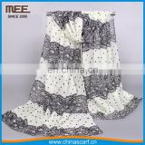 Hot sale chiffon scarves beauty wholesale china silk scarf