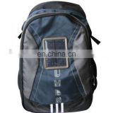 420D polyester outdoor solar backpack with low price