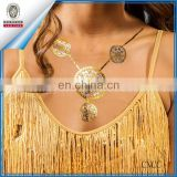 Metallic necklace Tattoo Gold Silver Temporary Bling bling tats