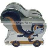 Squirrel money saving tin boxes with wheels