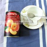 canned yellow peach in syrup of canned fruit