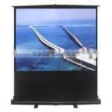 "60""-100"" Portable pull floor up projector screen"