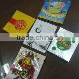 Three side seal foil sachet food packaging , aluminum foil candy bar packaging bag