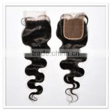 qingdao hair virgin color natural root super skin brazilian human hair silk base closure