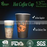 Custom Logo Printed Hot Tea / Coffee Paper Cup                                                                         Quality Choice