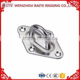 high quality Metal Square Pad eye Zinc Plated