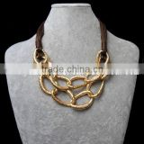 stainless steel link chain necklace statement choker necklace
