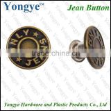Fashion custom logo metal brass jeans rivets buttons for jeans                                                                         Quality Choice