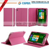 For Acer Iconia W3-810 tablet pink color 3 position stand leather case