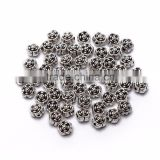 Top Quality 6.5mm Rose Style #1 Tibetan Silver Flower Metal Spacer Beads 50pcs per Bag For Jewelry Making Findings