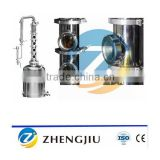 pot still distillation machine/copper distillation tower/distillation ket for distillery equipment