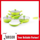 Aluminium frying pan set with handle