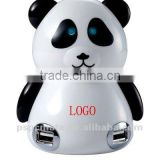 cute animal usb hub 4 port usb hub panda doll shape