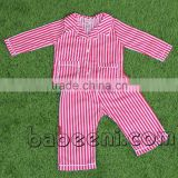 Lovely red stripe boy pajamas