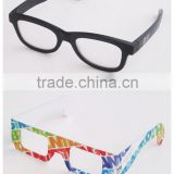 Promotional hot selling custom branded colorful foldable paper/ plastic passive polarized 3d glasses