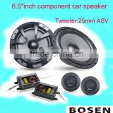 "car component audio with 6.5""inch component speaker high sensity with 25mm Tweeter"