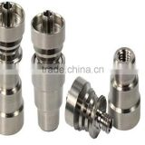 Universal Domeless Titanium Nail 4 IN 1 14.5mm & 18.8mm Dual Function GR2 Wax Oil Hookah Water Pipes Bong Ash Dab Rigs