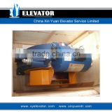 Elevator traction machine gearless