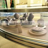 2015 newest jewelry counter display props luxury jewellery suede stands