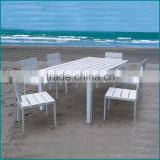 Outdoor patio polywood material used hotel outdoor furniture AW-909TC                                                                         Quality Choice