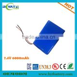 196195 7.4v 6000mah li polymer battery Portable Backup Power EPS,UPS,wind,solar and DC screen system                                                                         Quality Choice