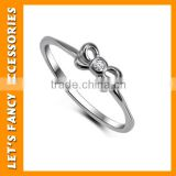 925 Sterling silver plated fashion beautiful knot ring jewelry PGRG0115