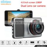 New Full HD1080P 4.0 inch IPS Screen Car Dash Camera Dual Lens Car DVR Black Box with ADAS System Night Vision