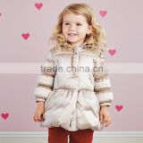 DB2766 dave bella 2015 winter infant coat baby padded jacket girls padded coat girls down coat down jacket