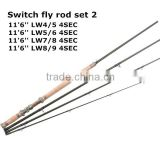 popular fishing rod with carbon blank switch fly rod