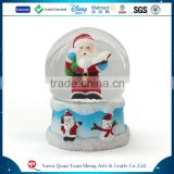 Polyresin Snow Globe With Blowing Snow Supplier Customized Plastic Glass Christmas Resin Xmas Snowglobe
