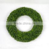 garden decoration artificial grass wreath with big size plastic decorative boxwood wreath for home decor