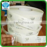 Top quality Environmental Protection Material transparent PE sticker adhesvie sticekrs roll