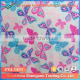 2015 textiles manufactures dyed nylon lycra cartoon butterfly fabric for girls