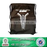 Drawstring Backpack Gym Bag Soccer Shoes Cleats Black Sack Gym Shoe Bag