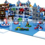 Kaiqi Hot selling PVC Indoor Playground Equipment Pace ship Theme with rocket and rope climber KQ60273A