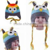 Girl Handmade Knit Crochet baby winter hat